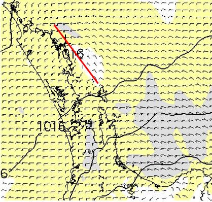 Forecast wind field for 10 January 2017, 8km resolution, at 8pm.