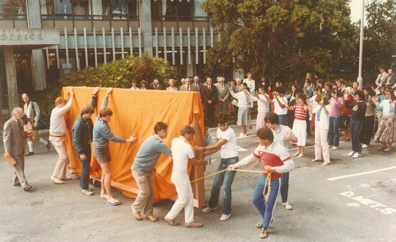 Tawhirimatea unveiling and blessing ceremony at MetService in 1984
