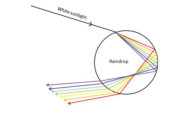 what makes a rainbow? an explanation of atmospheric optical Diagram of Rainbow Foods 482 x 294