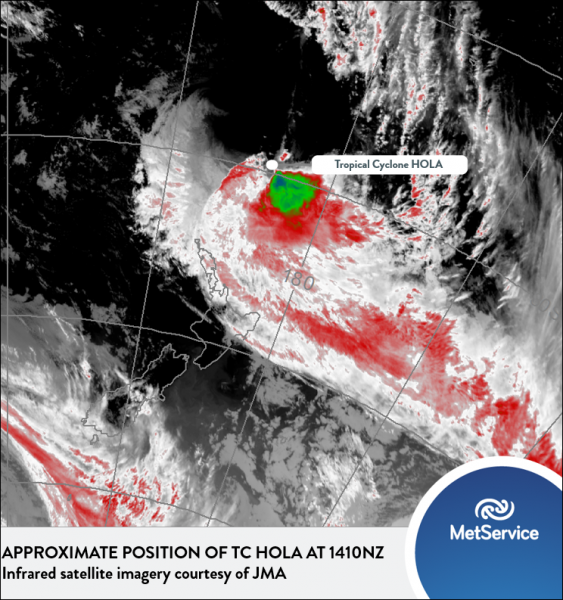 Tropical Cyclone Hola Update - 11/03/18 | MetService Blog