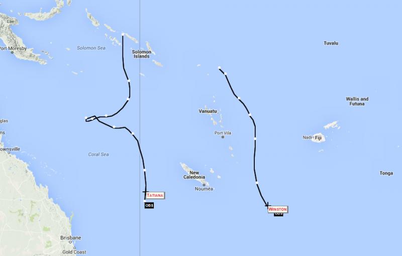 Tropical Cyclone Winston & Tropical Low Tatiana Update 14
