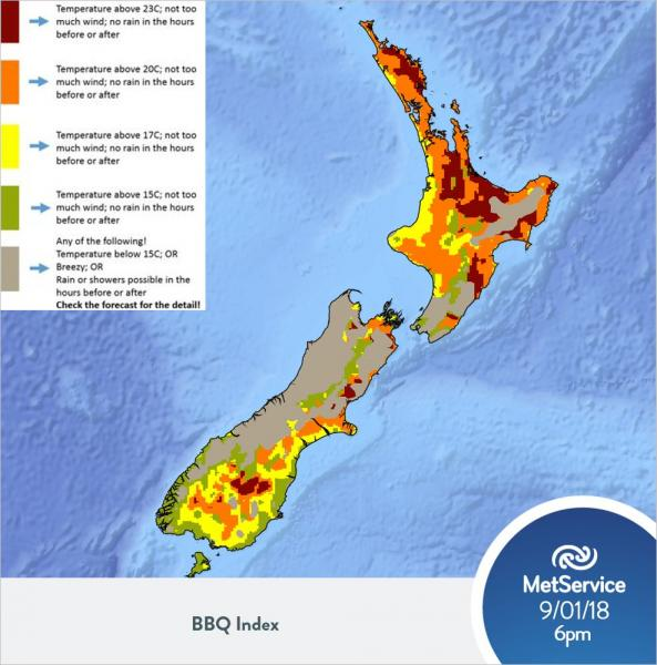 Ocean Weather Map.Metservice Bbq Weather Forecast Metservice Blog