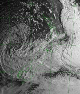 Visible satellite image, 8am 25 Sept 2009