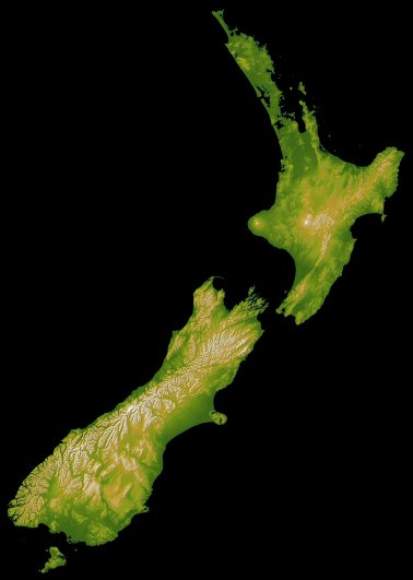 NZ topographic map
