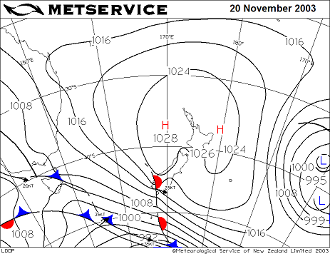 Weather Map 20 November 2003