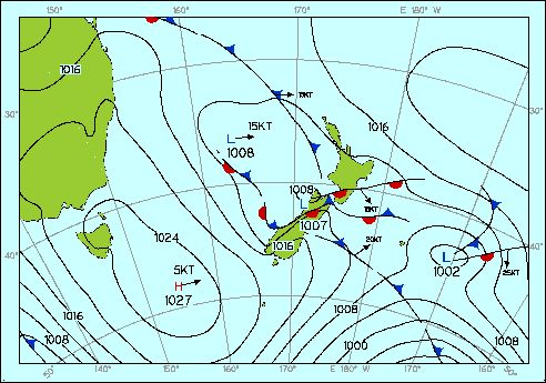 Weather pattern , 1pm Wed 2 Dec 2009