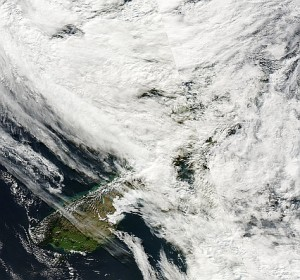 Satellite image from MODIS, 8 May 2010
