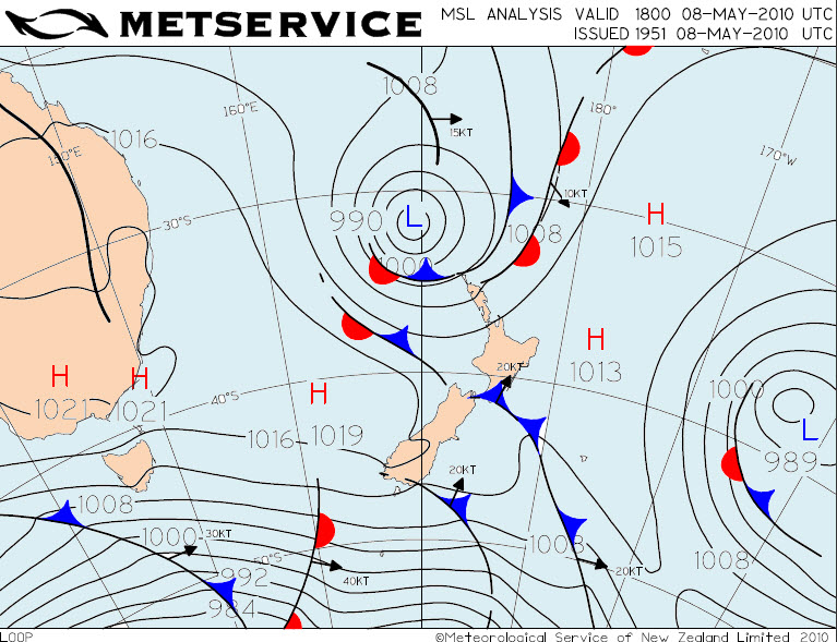 Making A Weather Map.Breaking Waves In The Sky Metservice Blog