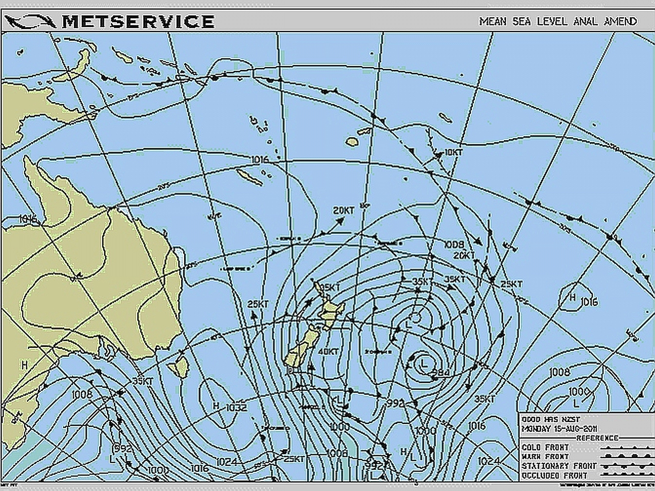 New Zealand Weather Map.2011 The Weather In Review Metservice Blog