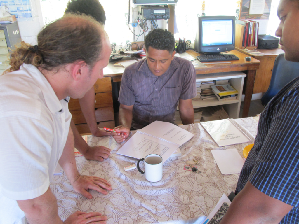 Training Met staff in Tuvalu