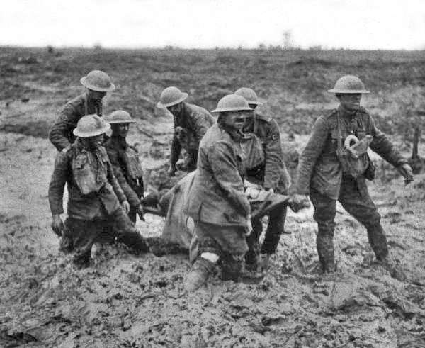 Stretcher bearers, Passchendaele, August 1917