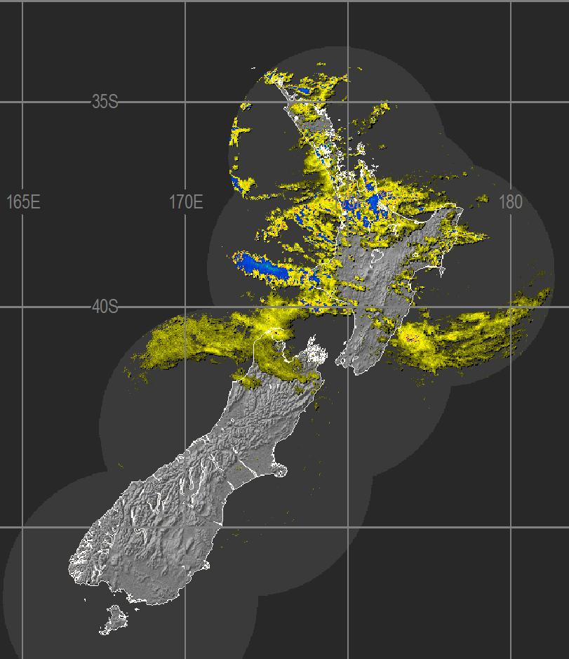 Midday radar image