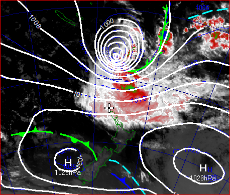 he image above shows the analysis and satellite picture at 7am on the 14 March.