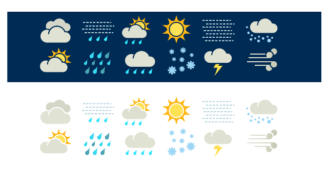 Weather icons used on metservice.com