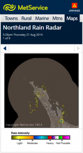 Northland radar now on MetService mobile website