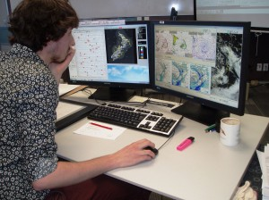 One of our 2014 graduate trainees working through a forecasting simulation.