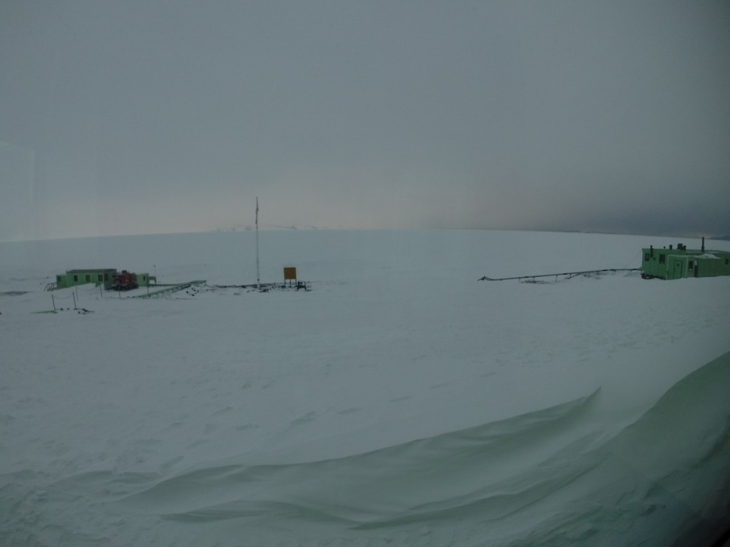 The view looking out towards the Ross Sea