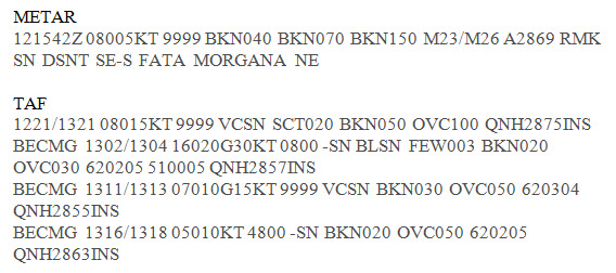 Pegasus Bay METAR and TAF from 13 Oct 2014