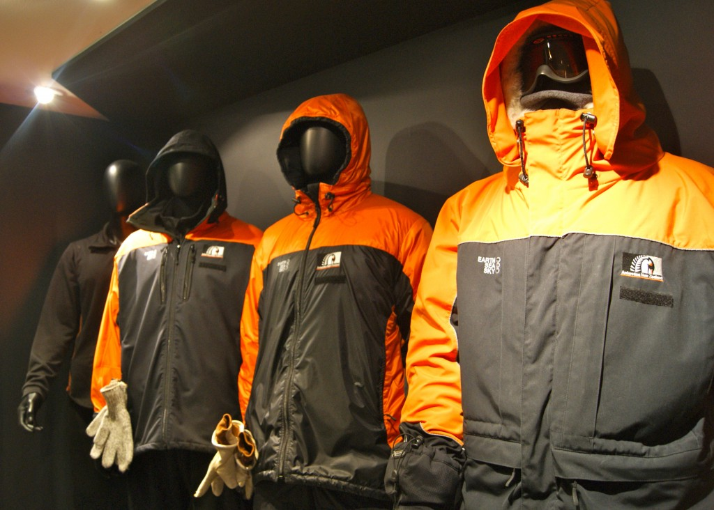 Some of the layers of polar wear on display at the Antarctic centre in Christchurch.