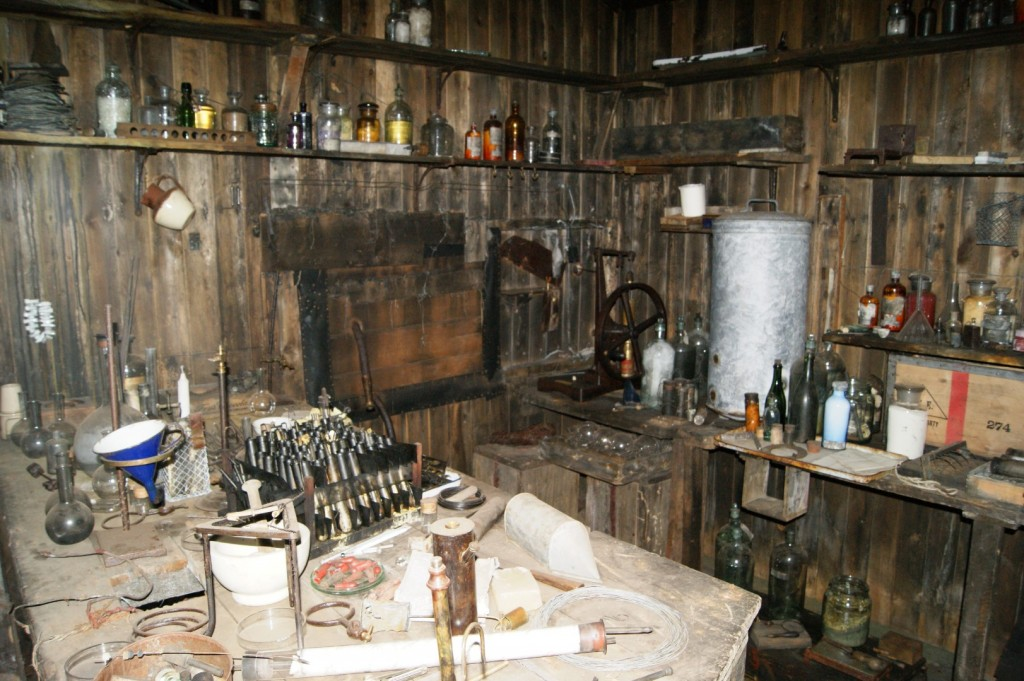 Interior of Scott's hut