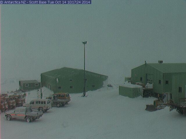 Conditions at Scott Base Tuesday October 14, 2014