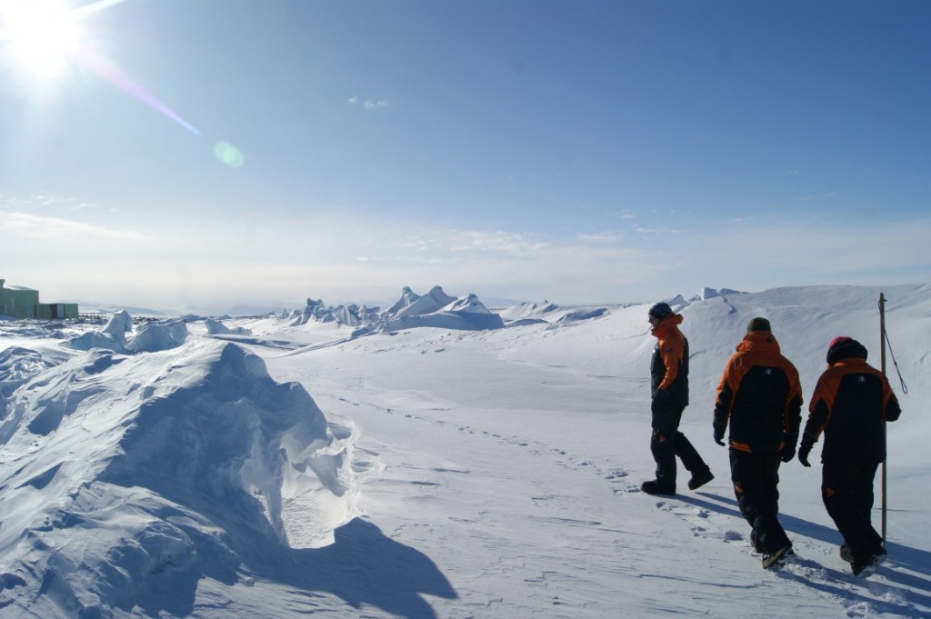 Out on the sea ice in front of Scott Base