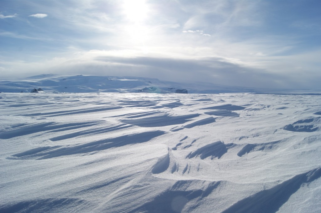View from sea ice on McMurdo Sound
