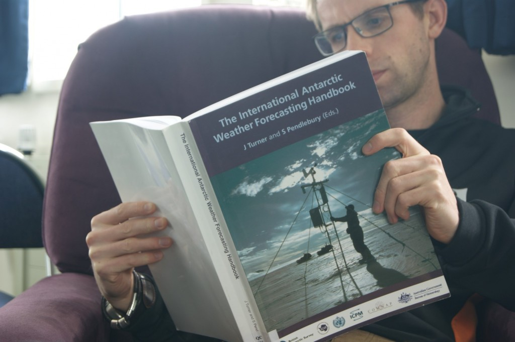 There is always something interesting to read at Scott Base.