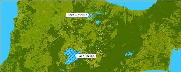 Figure 15: Lake Rotorua and Lake Taupo forecast areas