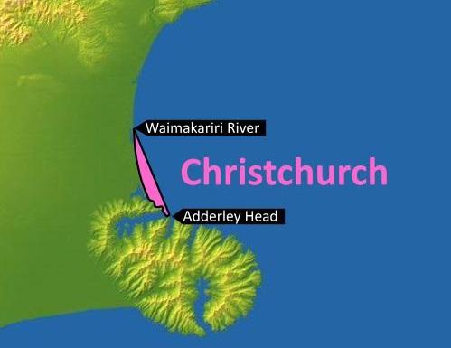 Figure 5: Christchurch MetService recreational marine forecast area