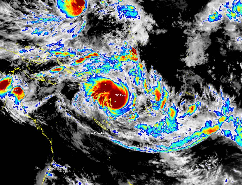 Satellite picture for the Tropics at 1pm NZDT 13th March