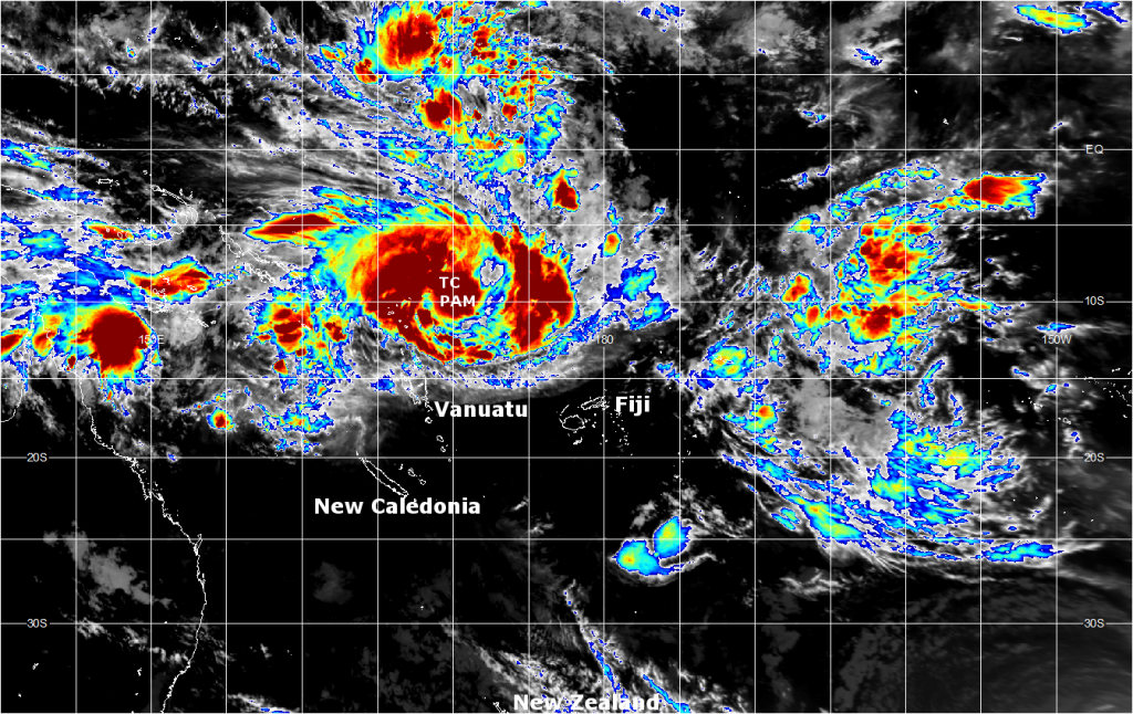 Infrared satellite image from midday (NZDT) Tuesday 10th March, 2015. Image courtesy JMA.