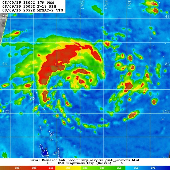 Microwave imagery of TC PAM