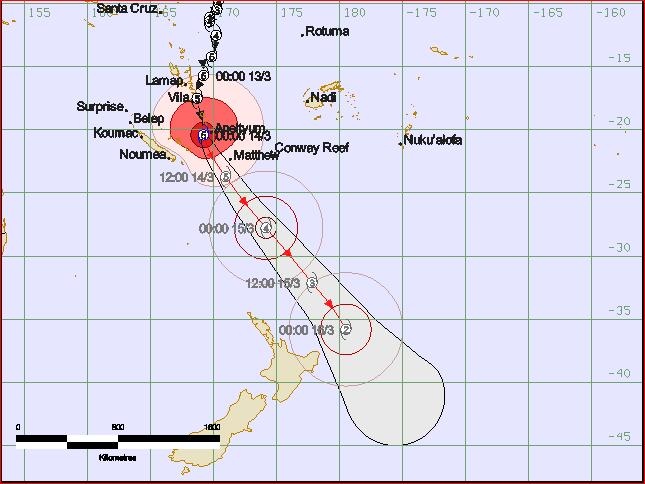 Latest TC forecast track map issued by RSMC Nadi at 2:18pm.