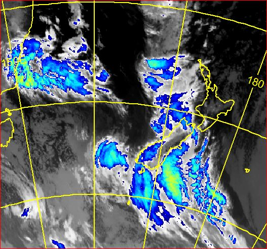 Infra red satellite image from 10am this morning