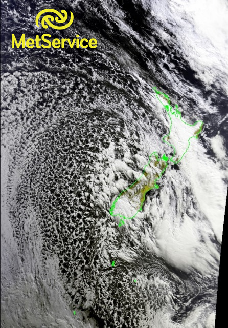 False colour image at 22Z on 12 April (10am local time on 13 April), courtesy of NOAA