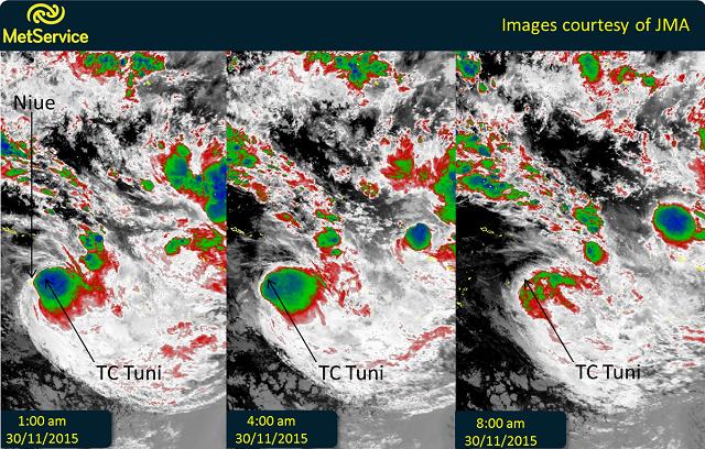 Infrared satellite images 30 November 2015 courtesy of JMA